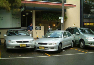 несоблюдение дистанции на парковке