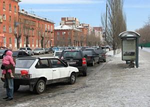 парковка на астобусной остановке