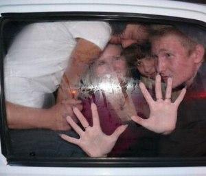 4 пассажира сзади в авто