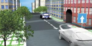 движение зданим ходом на односторонней дороге