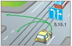 поворот налево через трамвайные пути