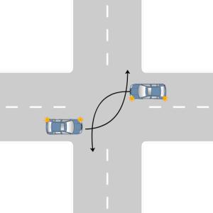 поворот налево на нерегулируемом перекрестке
