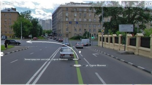 поворот налево на перекрестке