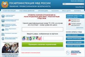 проверка автомобиля на сайте gibdd.ru