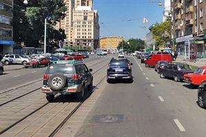 Перемещение по трамвайным рельсам